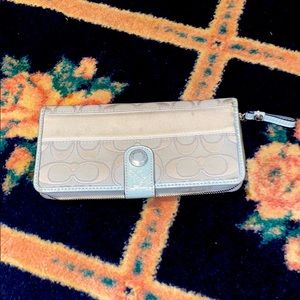 Authentic coach gray wallet